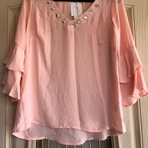 Pink rhinestone top
